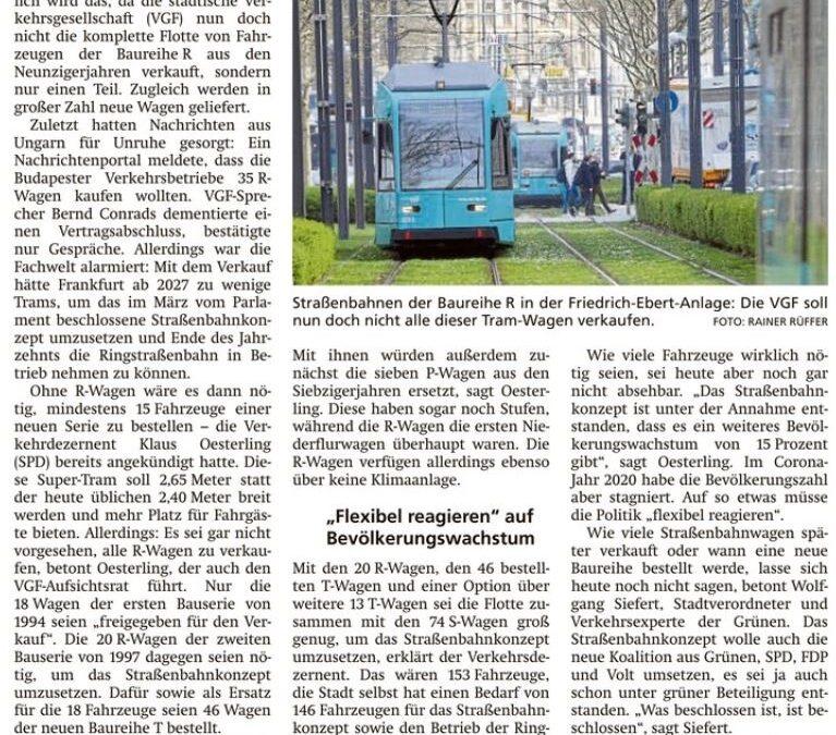 Straßenbahnflotte soll größer werden