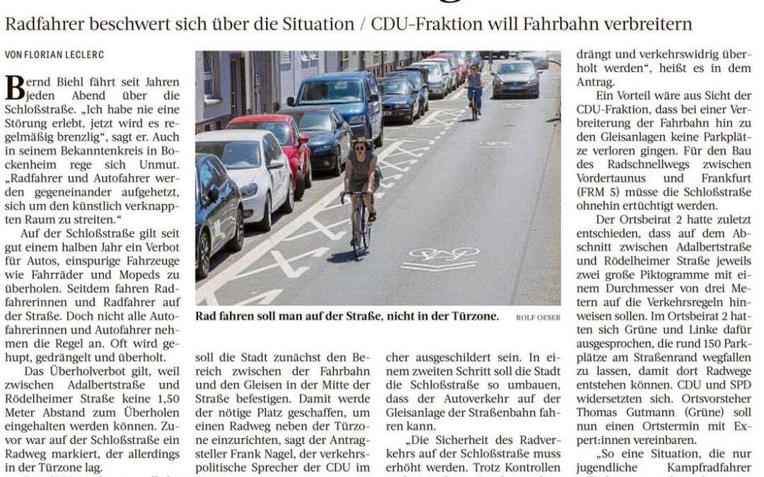 Schlosstraße bleibt gefährlich
